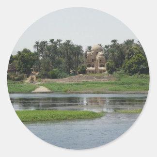 River Nile Scene Classic Round Sticker
