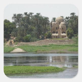River Nile Scene Square Sticker