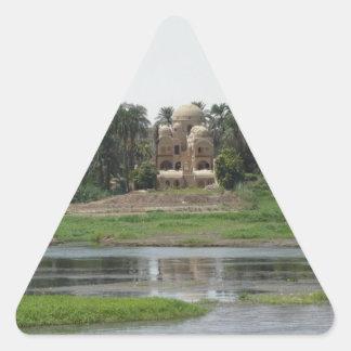 River Nile Scene Triangle Sticker
