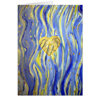 River of God Heart Blank Note Card