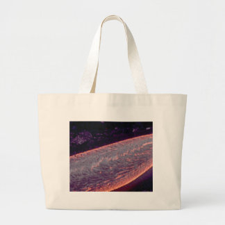 river of molten fire large tote bag