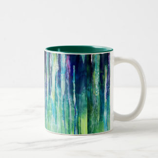 river of tears Two-Tone coffee mug