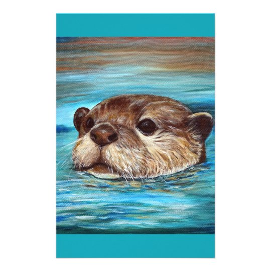 River Otter Stationery Design