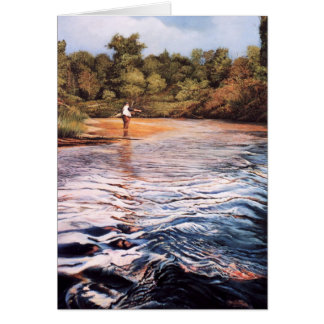 River Painting Greeting Cards