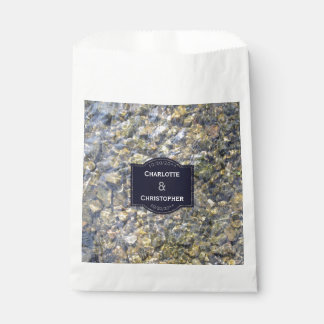 River Pebbles And Water Personalized Wedding Favour Bag