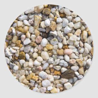 River Pebbles Rocks in Brown, Gray and White Classic Round Sticker