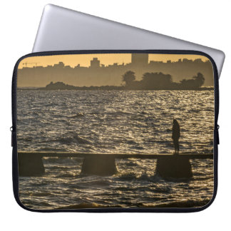 River Plater River Scene at Montevideo Laptop Computer Sleeves