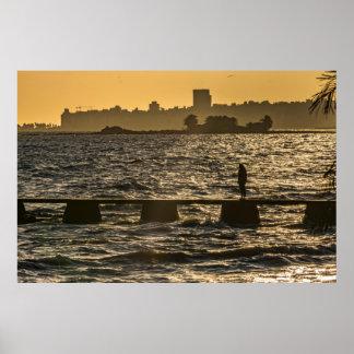 River Plater River Scene at Montevideo Poster
