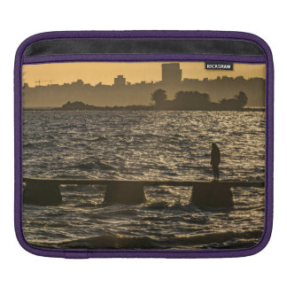 River Plater River Scene at Montevideo Sleeve For iPads