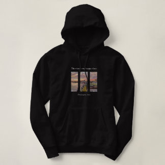 River Quote on a Mississippi  River Painting Hoodie
