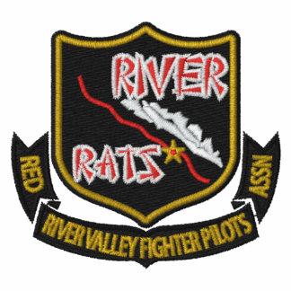 RIVER RAT Embroidered  F-4 Golf Polo (Dark Shirt)