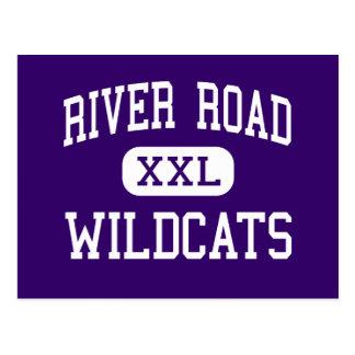 River Road - Wildcats - High - Amarillo Texas Postcard