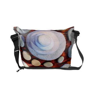 River rock designed messenger bag