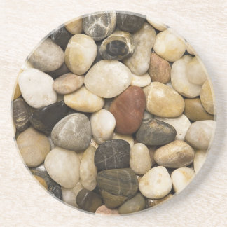 River Rock Stone Background - Customized Template Beverage Coasters