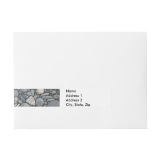 River Rocks Beach Pebbles Wraparound Address Label