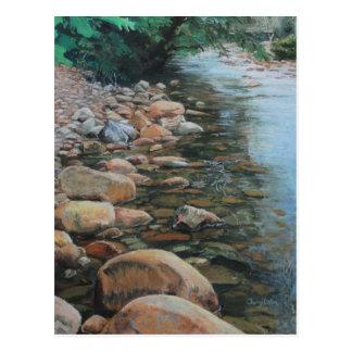 River Rocks print on post card