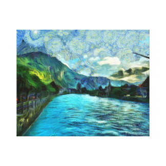 River running through Interlaken Canvas Print
