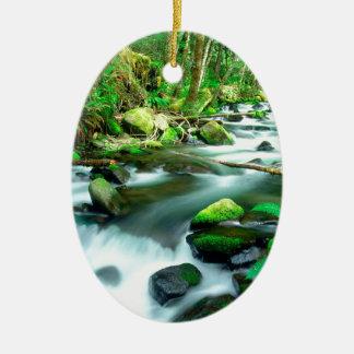 River Runningmount Hood Forest Oregon Ornament