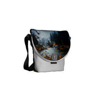 River Runs Through It Messenger Bag