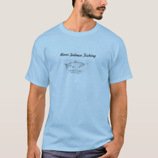 River salmon fishing T shirt