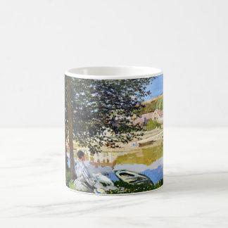 River Scene at Bennecourt, 1868 Claude Monet cool, Coffee Mugs