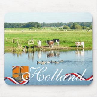River Scene Cows & Ducks Nature Mousepad