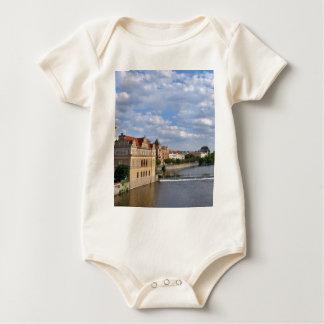 River side of Prague, Republic Czech, Baby Bodysuit
