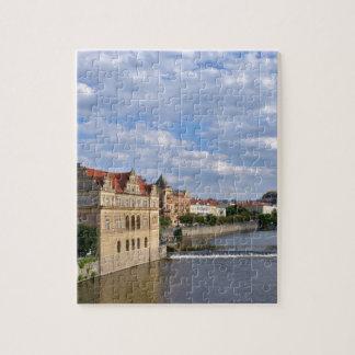 River side of Prague, Republic Czech, Jigsaw Puzzle