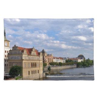 River side of Prague, Republic Czech, Placemat