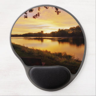 River Sunrise Gel Mouse Pad