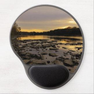 River Sunrise Gel Mousepads