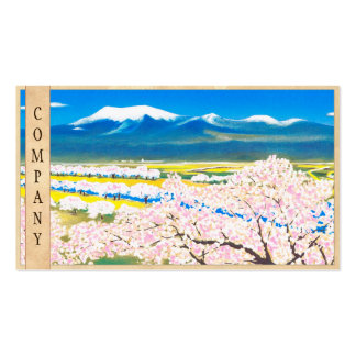 River Surface of Cherry Blossoms Yamagata Japan Pack Of Standard Business Cards