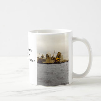 River Thames Barrier London Construction Coffee Mug
