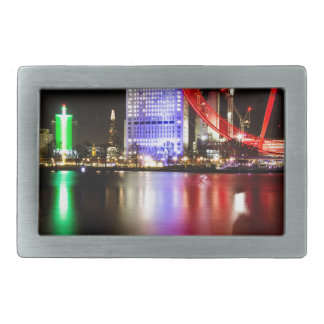 River Thames in Colour at night Rectangular Belt Buckles