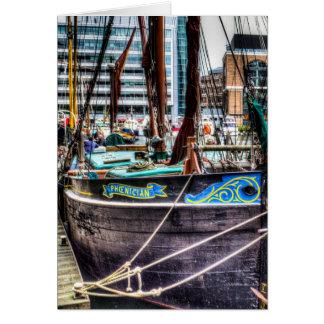 River Thames Sailing Barges. Card