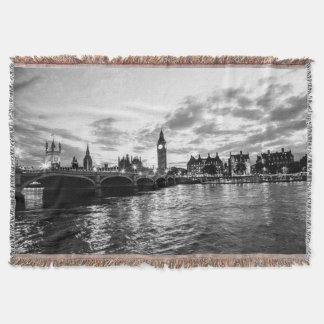River Thames & Westminster Throw Blanket