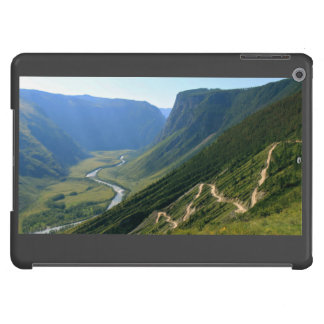 River Themed, A Winding Trail Mimics The Zigzag Pa iPad Air Covers