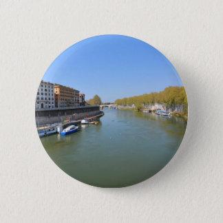 River Tiber in Rome, Italy 6 Cm Round Badge