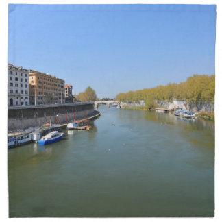 River Tiber in Rome, Italy Napkin