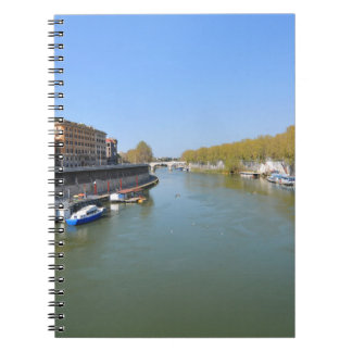 River Tiber in Rome, Italy Notebook