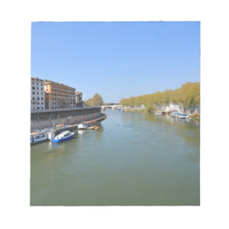 River Tiber in Rome, Italy Notepad