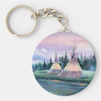 RIVER TIPI CAMP by SHARON SHARPE Key Ring