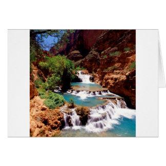 River Travertine Pools Havasu Canyon Card
