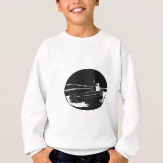 River Tugboat Oval Woodcut Sweatshirt