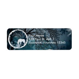 River Unicorn Address Label