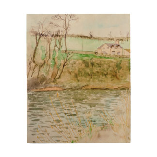 River View, Hay on Wye Wood Wall Art