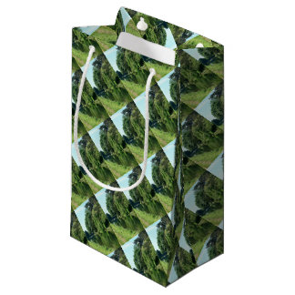 River walk green leaves and trees small gift bag