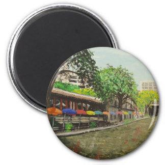 River Walk San Antonio, TX Painting Magnet