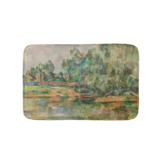 Riverbank by Paul Cezanne Bath Mat