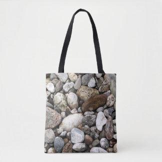 Riverbed Rocks Tote Bag